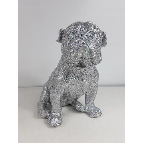 20 - Glitter dog figure...