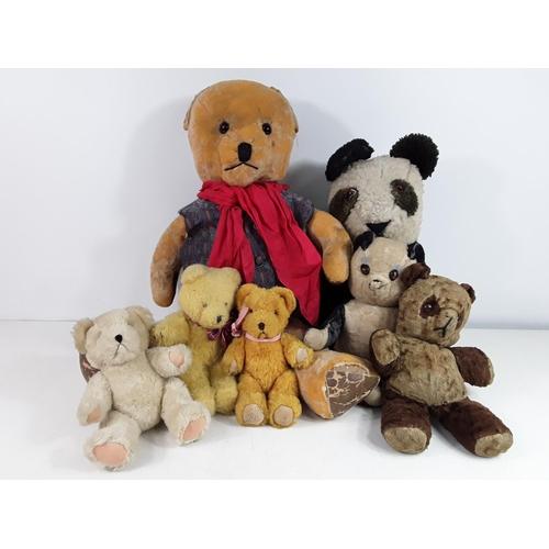 51 - 7 various vintage teddy bears...