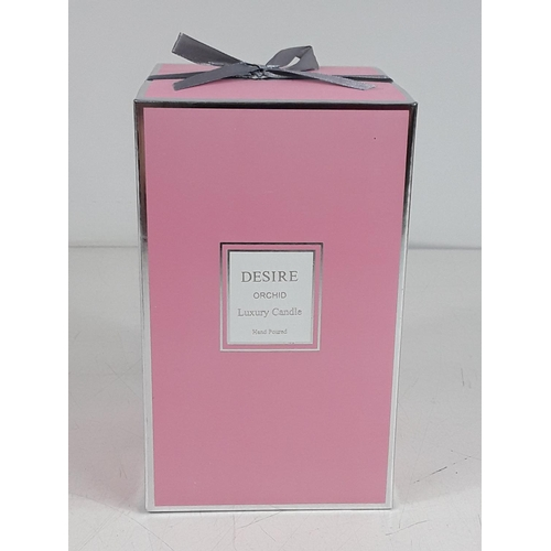 25 - Large orchid candle...