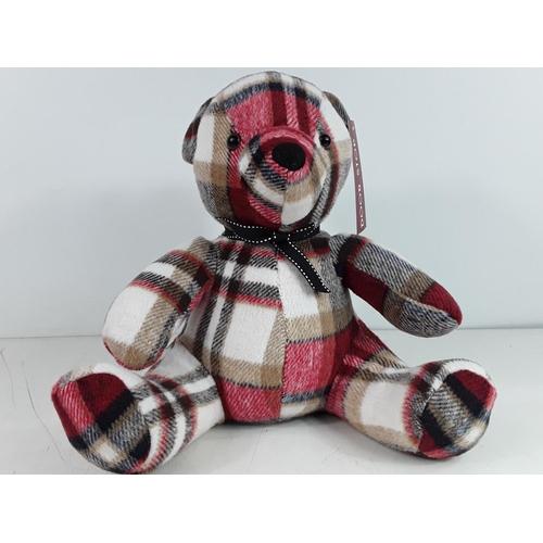 46 - Tartan teddy bear doorstop...