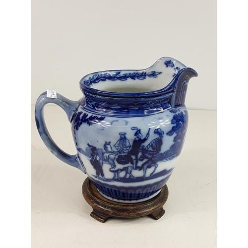 53 - Royal Doulton blue and white Eglinton Tournament jug...