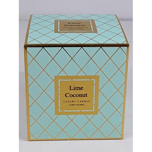 7 - Boxed Lime and coconut candle...