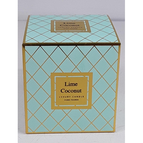 8 - Boxed Lime and coconut candle...