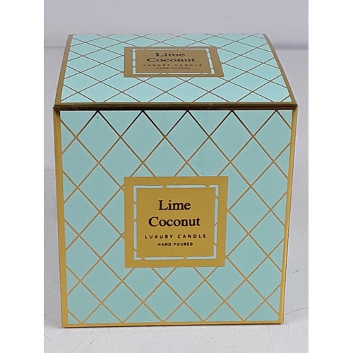 9 - Boxed Lime and coconut candle...