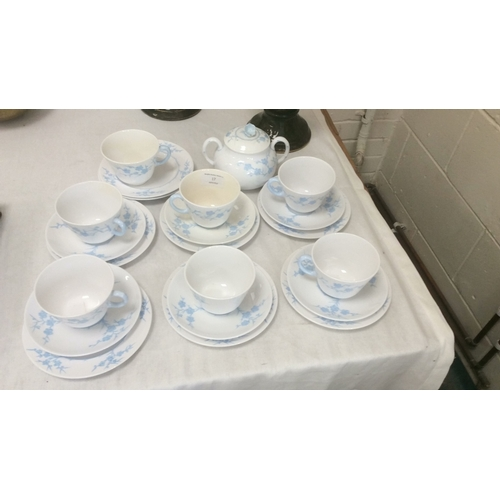 17 - Blanche de Chine part tea set some A/F...