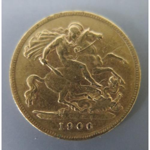 261 - A Victorian 1900 Gold Half Sovereign...