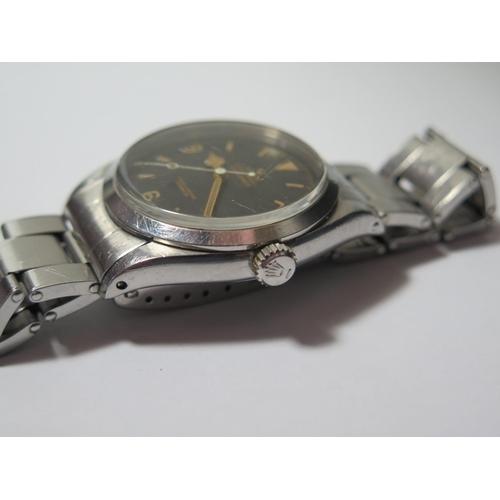195 - A Rolex Explorer Oyster Precision Gent's Steel Cased Centre Seconds Wristwatch with 36mm matt dial, ...