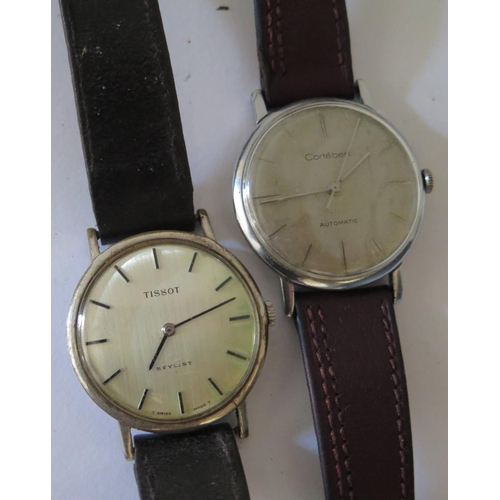 230 - A Cortébert Grands Prix Gent Automatic Steel Cased Centre Seconds Wristwatch, 29mm dial AND Tissot S...