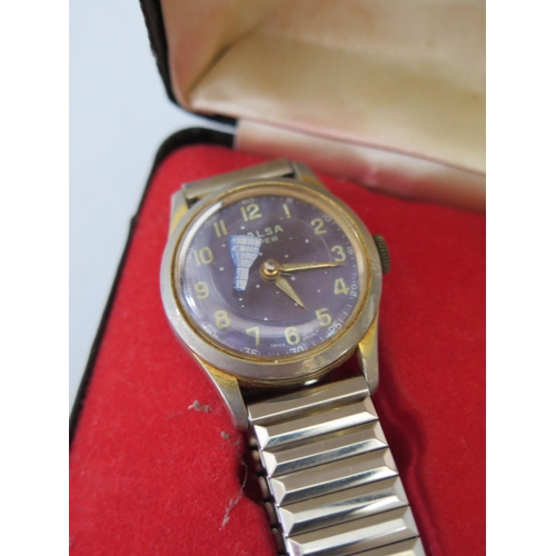 254 - A Walsa Super Boys Wristwatch with 23mm dial and Swiss movement, boxed...