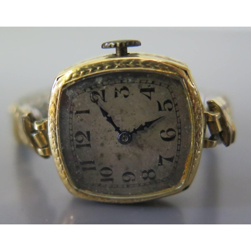 256 - A Rolex Ladies 18ct Gold Wristwatch, the 18mm dial with Arabic numerals, Prima movement, Rolex case,...