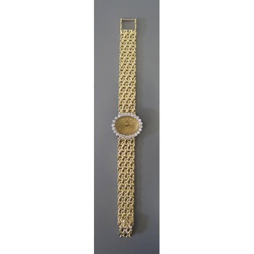 258 - A Concord 14K Gold and Diamond Ladies Evening Watch with 18 x 12mm dial, 47g...