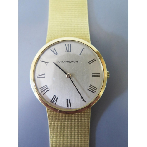 259 - An Audemans Piguet 18ct Gold Gents Wristwatch with 29mm dial, case back no. B11646, 82.9g and in ori...