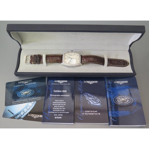 260 - A Longines Evidenza Gent's Stainless Steel and Diamond Automatic Chronograph Wristwatch with 33 x 27...