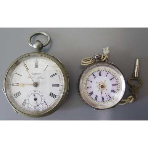 88 - A Ladies .935 Silver Cased Ladies Fob Watch and one other...