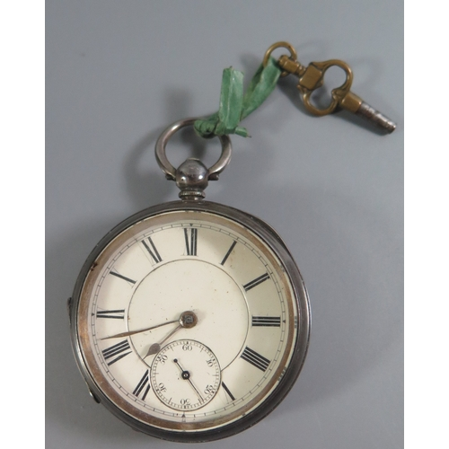85 - A Victorian Silver Key Wound Pocket Watch, London 1887, needs attention...