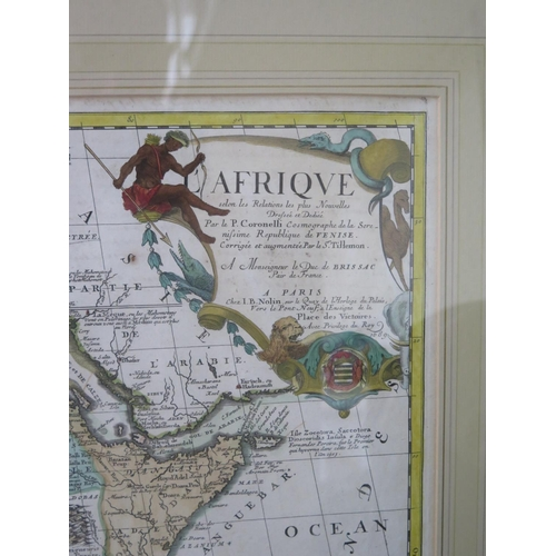 481 - CORONELLI, Vincenzo Maria. [Coronelli/Nolin map of Africa], Afrique selon les relations les plus nou...