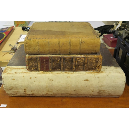 488 - The Holy Bible. Printed by Sir J.H. Blair and J. Bruce, Edinburgh 1799 in leather boards AND The Hol...