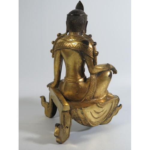 517 - A Chinese Gilt Bronze Figure, 24cm...