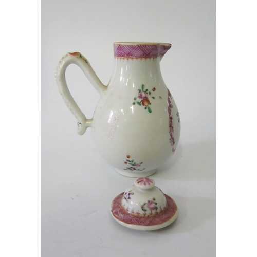 536 - A Small Chinese Famille Rose Jug with cover, 14.5cm...