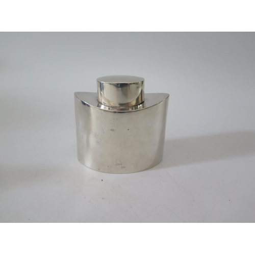 115B - A George V Silver Tea Flask, Chester 1912, George Nathan & Ridley Hayes, 130g...