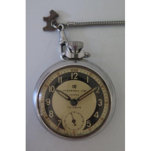 143 - An Ingersoll Triumph Open Dial Pocket Watch...