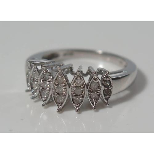 170 - A 10K White Gold Diamond Ring, size N, 3.3g...