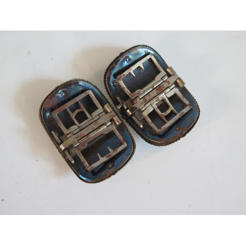 252 - A Collection of Georgian Cut Steel Shoe Buckles...