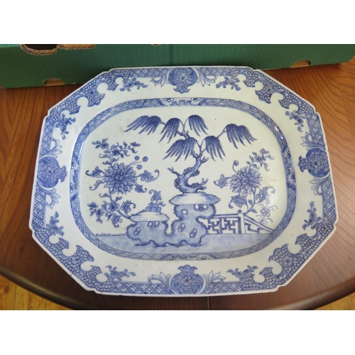 271 - An Eighteenth Century Chinese Blue and White Platter...