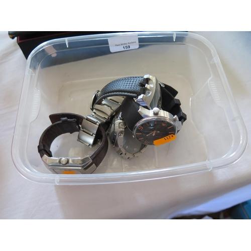 159 - Five Modern Gent's Wristwatches...