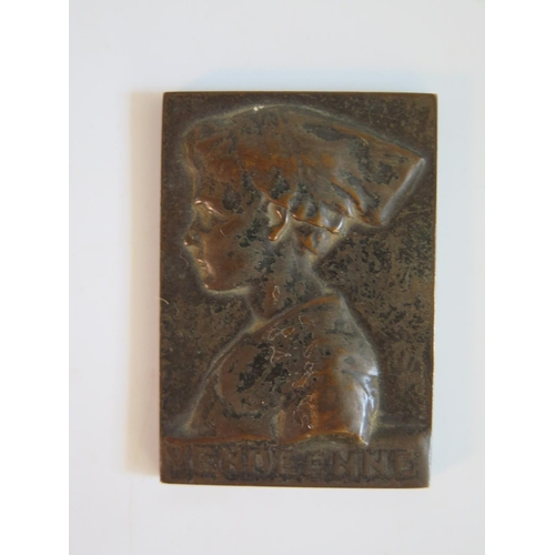 248 - A Vendeenne Bronze Plaque...