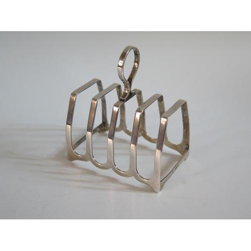 25 - A Birmingham Silver Four Slot Toast Rack, 40g...