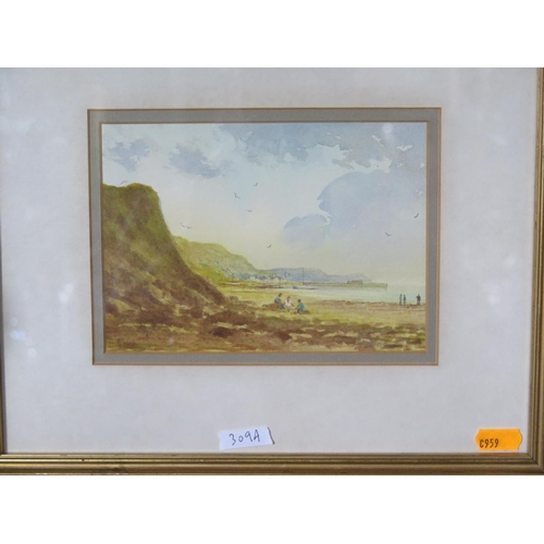 309a - Bradley Carter, The Fossil Hunters, watercolour...