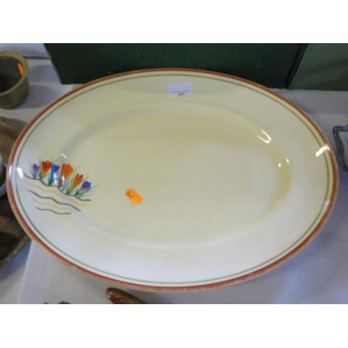425 - A Clarice Cliff Bizarre Crocus Pattern Meat Platter...