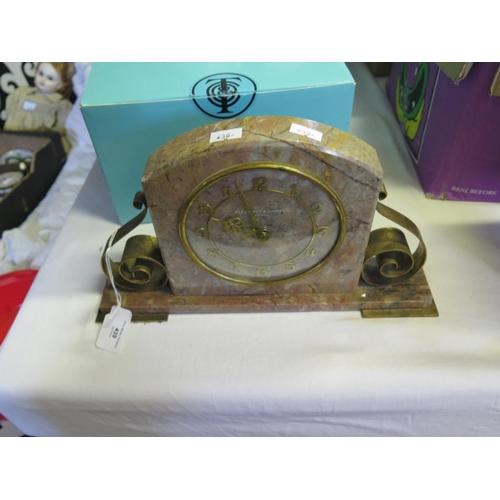 439 - A Plesance and Harper Ltd. Marble Mantle Clock...