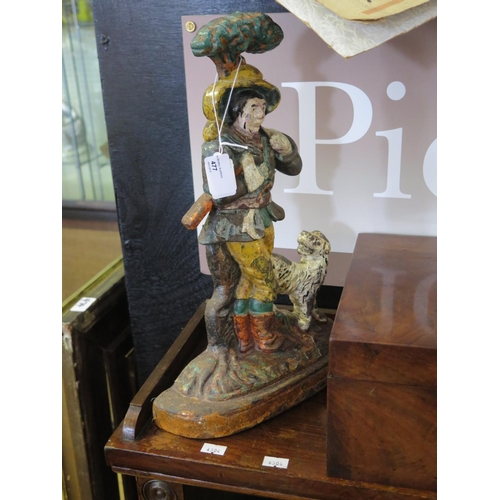 477 - A Victorian Jack in the Green Cold Painted Cast Iron Doorstop...