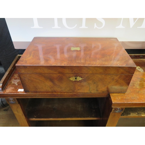 478 - A Victorian Mahogany and Brass Mounted Writing Slope...