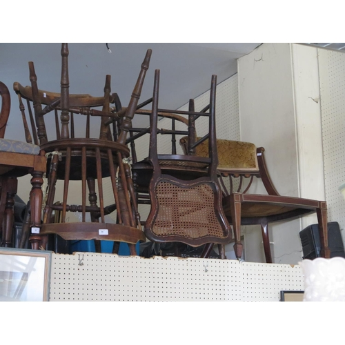 506 - A Pair of Spindle Back Chairs and three others...