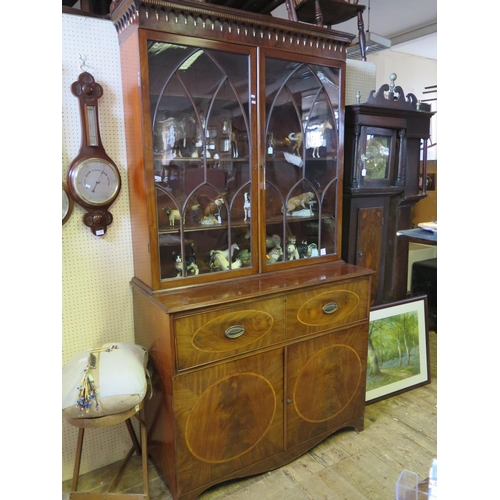509 - An Early Nineteenth Century Mahogany Secretaire Bookcase...