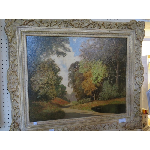 520 - The Drive, oil on panel, framed...