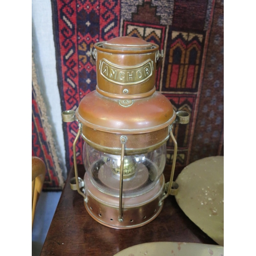 583 - An Anchor Ship's Lamp...