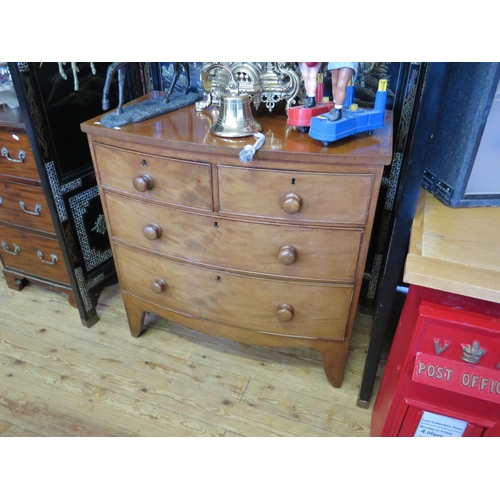 593 - A Victorian Mahogany Chest of Drawers...