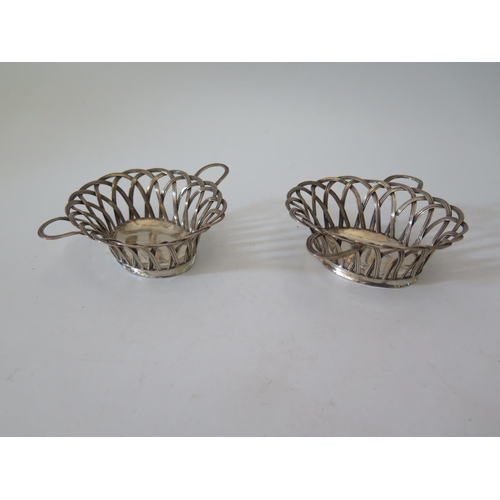 64a - A Pair of George III Silver Baskets, London 1765, John Henry Vere & William Lutwyche, 134g, 11.7 x 9...