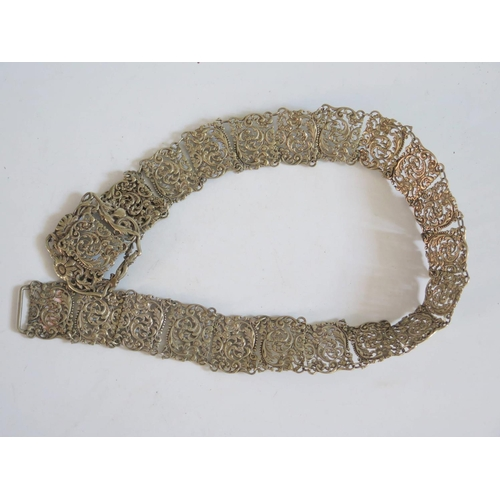 66 - A Silver Plated Lady's Belt...