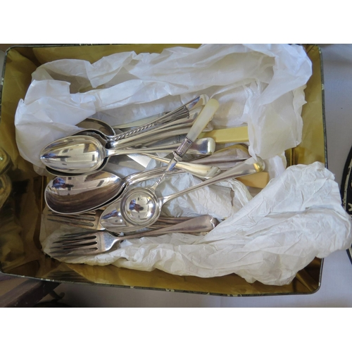 77 - A Small Selection of Silver Plated Flatware...