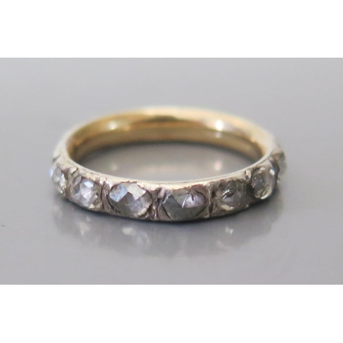 143 - A Georgian Rose Cut Diamond Eternity Ring, size I, 1.8g...