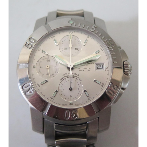 243 - Baume & Mercier Gent's Automatic Stainless Steel Chronograph Wristwatch with 30mm dial, case back st...