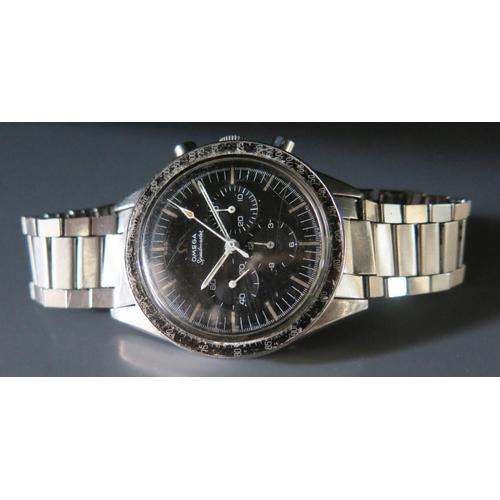 243a - A Gent's Omega Speedmaster 'Ed White' Steel Cased Chronograph Wristwatch, the 17 jewel movement no. ...
