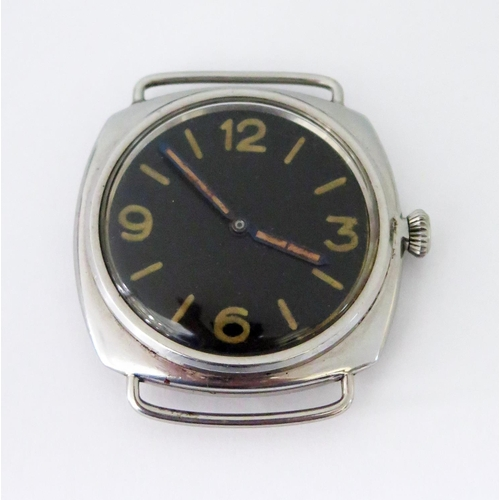 245 - A Rare Panerai WWII Diver's (Kampfschwimmer) Watch. 1944 3646 Type E Rolex 618 Type 1  with anonymou...