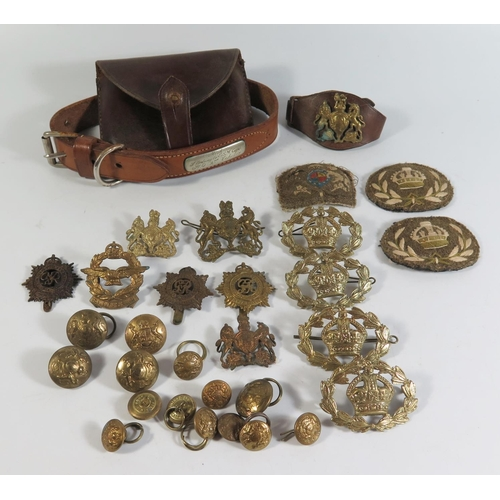 287 - A Collection of Military Badges including Royal Army Service Corps, South African Air Force etc....