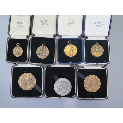 289 - A Collection of Medals including Woolwich Sandhurst  Boxing 1939 Lightweight Winner G.C. E.P.J. Will...